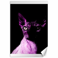 Pink Sphynx Cat Canvas 24  X 36  by Valentinaart