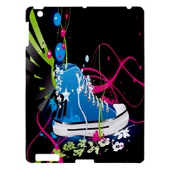 Sneakers Shoes Patterns Bright Apple Ipad 3/4 Hardshell Case by Simbadda