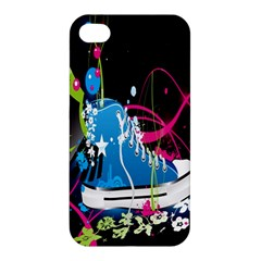 Sneakers Shoes Patterns Bright Apple Iphone 4/4s Premium Hardshell Case by Simbadda