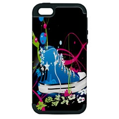 Sneakers Shoes Patterns Bright Apple Iphone 5 Hardshell Case (pc+silicone) by Simbadda