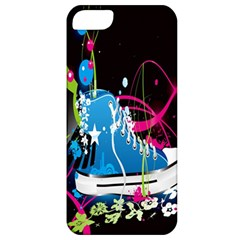 Sneakers Shoes Patterns Bright Apple Iphone 5 Classic Hardshell Case by Simbadda