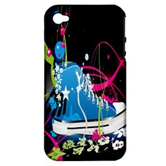 Sneakers Shoes Patterns Bright Apple Iphone 4/4s Hardshell Case (pc+silicone) by Simbadda