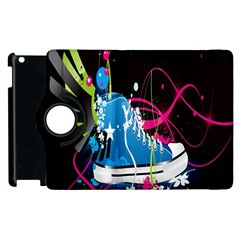 Sneakers Shoes Patterns Bright Apple Ipad 2 Flip 360 Case by Simbadda