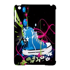 Sneakers Shoes Patterns Bright Apple Ipad Mini Hardshell Case (compatible With Smart Cover) by Simbadda