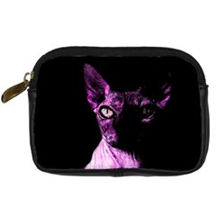 Pink Sphynx Cat Digital Camera Cases by Valentinaart