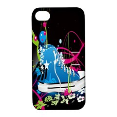 Sneakers Shoes Patterns Bright Apple Iphone 4/4s Hardshell Case With Stand