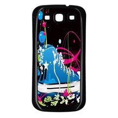 Sneakers Shoes Patterns Bright Samsung Galaxy S3 Back Case (black) by Simbadda