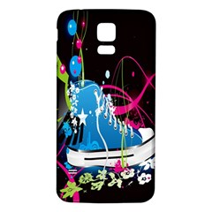 Sneakers Shoes Patterns Bright Samsung Galaxy S5 Back Case (white) by Simbadda