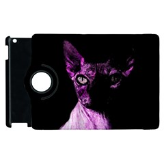 Pink Sphynx Cat Apple Ipad 2 Flip 360 Case by Valentinaart