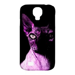 Pink Sphynx Cat Samsung Galaxy S4 Classic Hardshell Case (pc+silicone) by Valentinaart