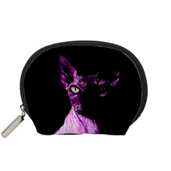 Pink Sphynx Cat Accessory Pouches (small)  by Valentinaart