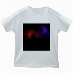 Point Light Luster Surface Kids White T Shirts by Simbadda