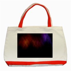 Point Light Luster Surface Classic Tote Bag (red) by Simbadda
