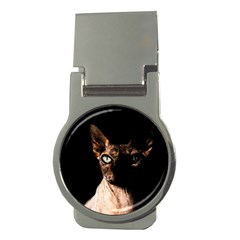 Sphynx Cat Money Clips (round)  by Valentinaart