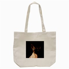 Sphynx Cat Tote Bag (cream) by Valentinaart