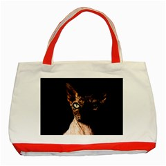 Sphynx Cat Classic Tote Bag (red)