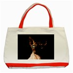 Sphynx cat Classic Tote Bag (Red) Front