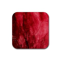 Red Background Texture Rubber Square Coaster (4 Pack)  by Simbadda