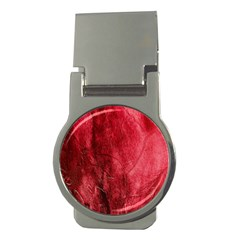 Red Background Texture Money Clips (round)  by Simbadda