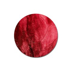Red Background Texture Magnet 3  (round)