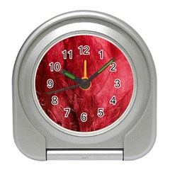Red Background Texture Travel Alarm Clocks by Simbadda