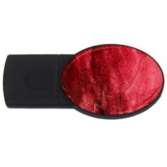 Red Background Texture Usb Flash Drive Oval (4 Gb) by Simbadda