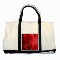 Red Background Texture Two Tone Tote Bag by Simbadda