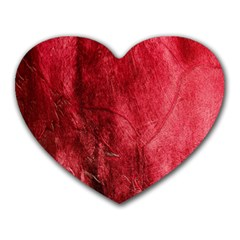 Red Background Texture Heart Mousepads by Simbadda