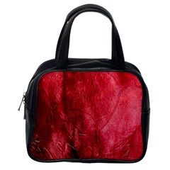 Red Background Texture Classic Handbags (one Side) by Simbadda