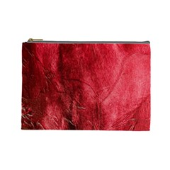 Red Background Texture Cosmetic Bag (large)