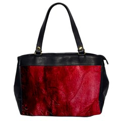 Red Background Texture Office Handbags by Simbadda