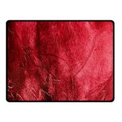 Red Background Texture Fleece Blanket (small) by Simbadda