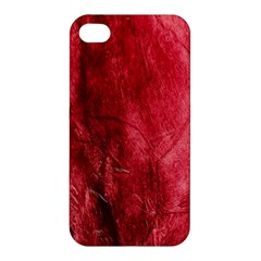 Red Background Texture Apple Iphone 4/4s Premium Hardshell Case by Simbadda