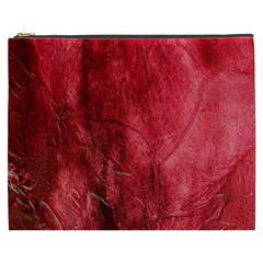 Red Background Texture Cosmetic Bag (xxxl)