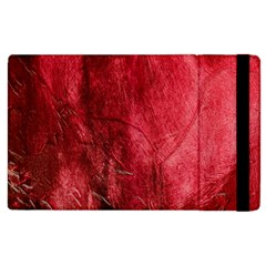 Red Background Texture Apple Ipad 2 Flip Case by Simbadda