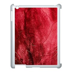 Red Background Texture Apple Ipad 3/4 Case (white) by Simbadda