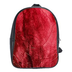 Red Background Texture School Bags (xl)  by Simbadda