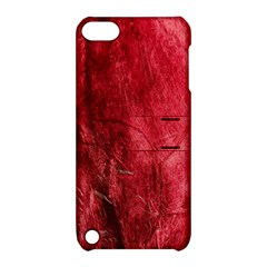 Red Background Texture Apple Ipod Touch 5 Hardshell Case With Stand by Simbadda
