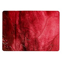 Red Background Texture Samsung Galaxy Tab 10 1  P7500 Flip Case by Simbadda