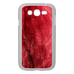 Red Background Texture Samsung Galaxy Grand Duos I9082 Case (white) by Simbadda