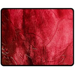 Red Background Texture Double Sided Fleece Blanket (medium)