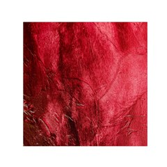 Red Background Texture Small Satin Scarf (square) by Simbadda