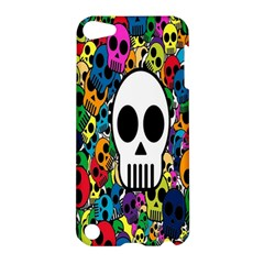 Skull Background Bright Multi Colored Apple Ipod Touch 5 Hardshell Case by Simbadda