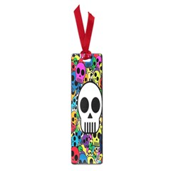 Skull Background Bright Multi Colored Small Book Marks by Simbadda