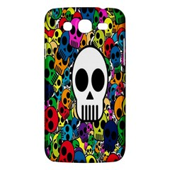 Skull Background Bright Multi Colored Samsung Galaxy Mega 5 8 I9152 Hardshell Case  by Simbadda