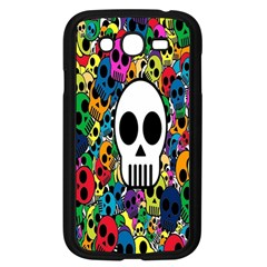 Skull Background Bright Multi Colored Samsung Galaxy Grand Duos I9082 Case (black) by Simbadda