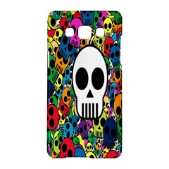 Skull Background Bright Multi Colored Samsung Galaxy A5 Hardshell Case  by Simbadda