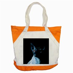 Blue Sphynx Cat Accent Tote Bag by Valentinaart
