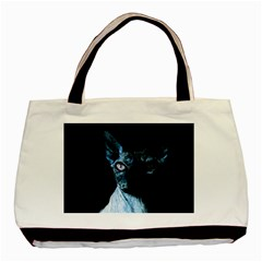 Blue Sphynx Cat Basic Tote Bag (two Sides) by Valentinaart