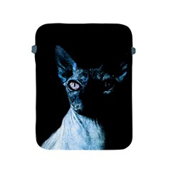 Blue Sphynx Cat Apple Ipad 2/3/4 Protective Soft Cases by Valentinaart